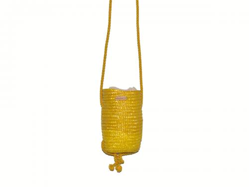 43.Bolso tubito amarillo abeja